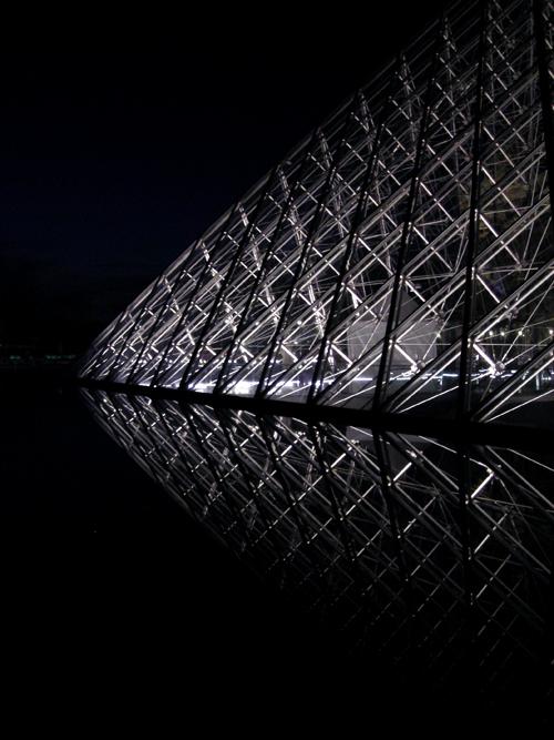 Musée du Louvre at night